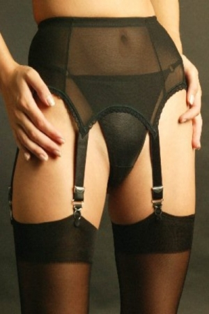 NDL61 6 strap power mesh suspender belt